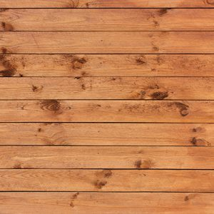 Sawn and treated
